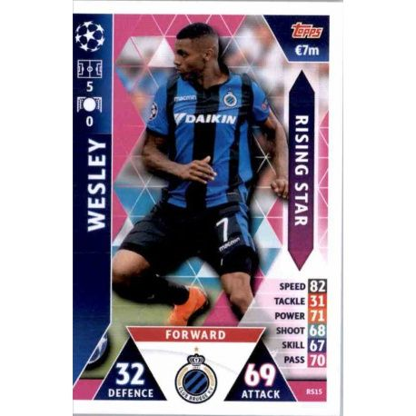 0ceff1121 Big Offer Rising Stars Wesley Topps Match Attax Champions League 2018 19