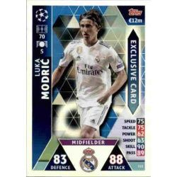 Luka Modric Exclusive Card ES3 Match Attax Champions 2018-19