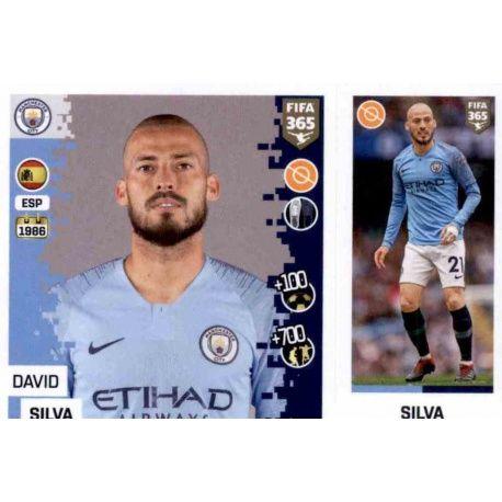 Buy Stickers David Silva del Manchester City Fifa 365 Stickers 2019 c6da3aa88e59f