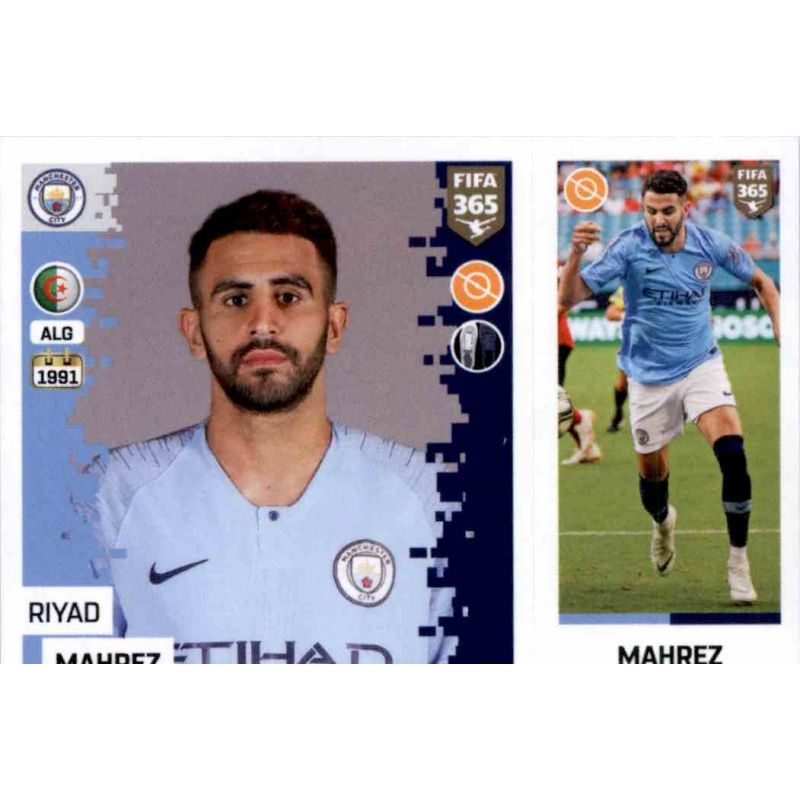 Sticker 61 a//b Manchester City Raheem Sterling Panini FIFA365 2019