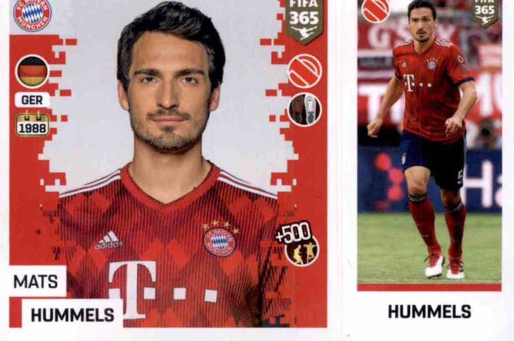 Sticker 37 Mats Hummels Panini FC Bayern München 2018//19