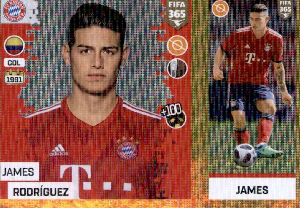 FC Bayern München Sticker 166 a//b Panini FIFA365 2019 Javi Martinez