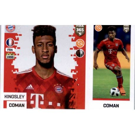 new product a1a65 b35a7 Sale Stickers Kingsley Coman del Bayern München Fifa 365 Stickers 2019