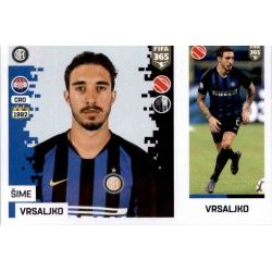 Šime Vrsaljko - Internazionale Milan 212Panini FIFA 365 2019 Sticker Collection