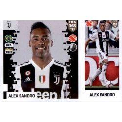 Alex Sandro - Juventus 228 Panini FIFA 365 2019 Sticker Collection