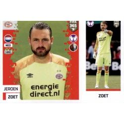 Jeroen Zoet - PSV Eindhoven 256 Panini FIFA 365 2019 Sticker Collection