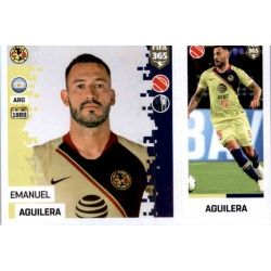 Emanuel Aguilera - Club América 371 Panini FIFA 365 2019 Sticker Collection
