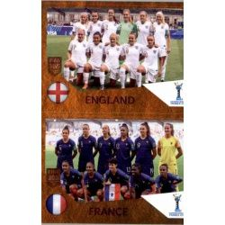 England / France 448 Panini FIFA 365 2019 Sticker Collection