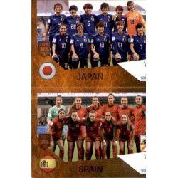 Japan / Spain 447 Panini FIFA 365 2019 Sticker Collection