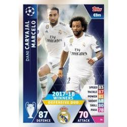 Marcelo - Dani Carvajal - offensive Duo Real Madrid CF – 2017-18 Winners 54
