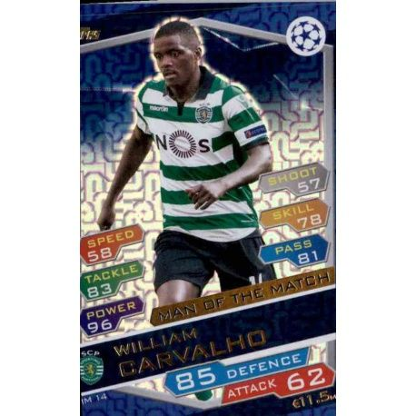 Topps Ligue des Champions 2016//17-spo 10-William Carvalho-Sporting Clube deportugal