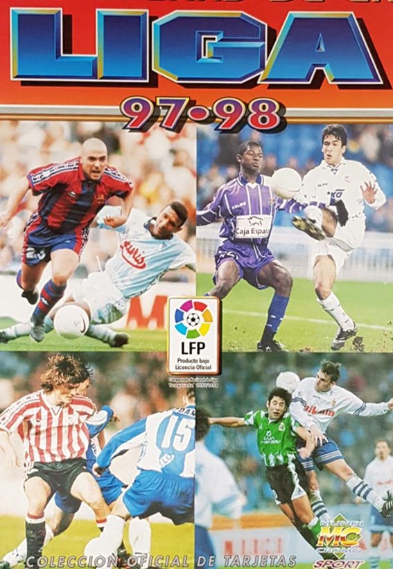 Fichas de La Liga 1997-98