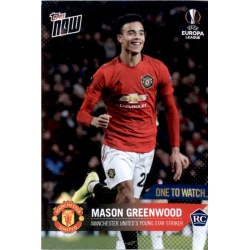 Mason Greenwood One To Watch Topps Now Mason Greenwood